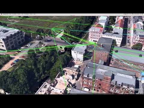 3D Google Earth von Freifunk Leipzig