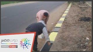 أطفال وشباب يجملون قرية بنى ماضى ببنى سويف