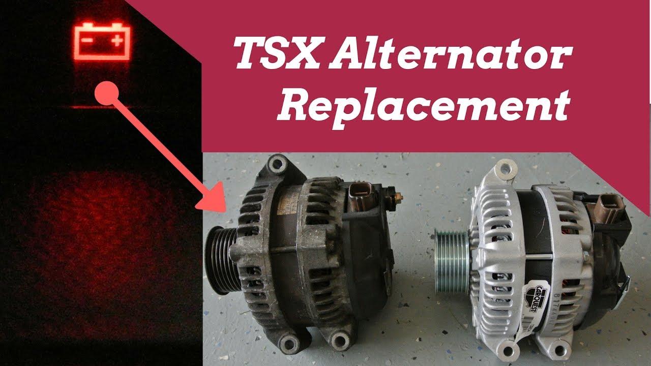 acura tsx alternator replacement youtube rh youtube com Red 2004 Acura TSX Mods 2006 Acura TSX Serpentine Belt