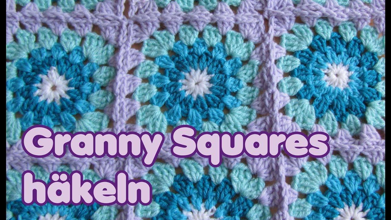 Granny Square Häkelquadrat Innen Rund Häkeln Youtube