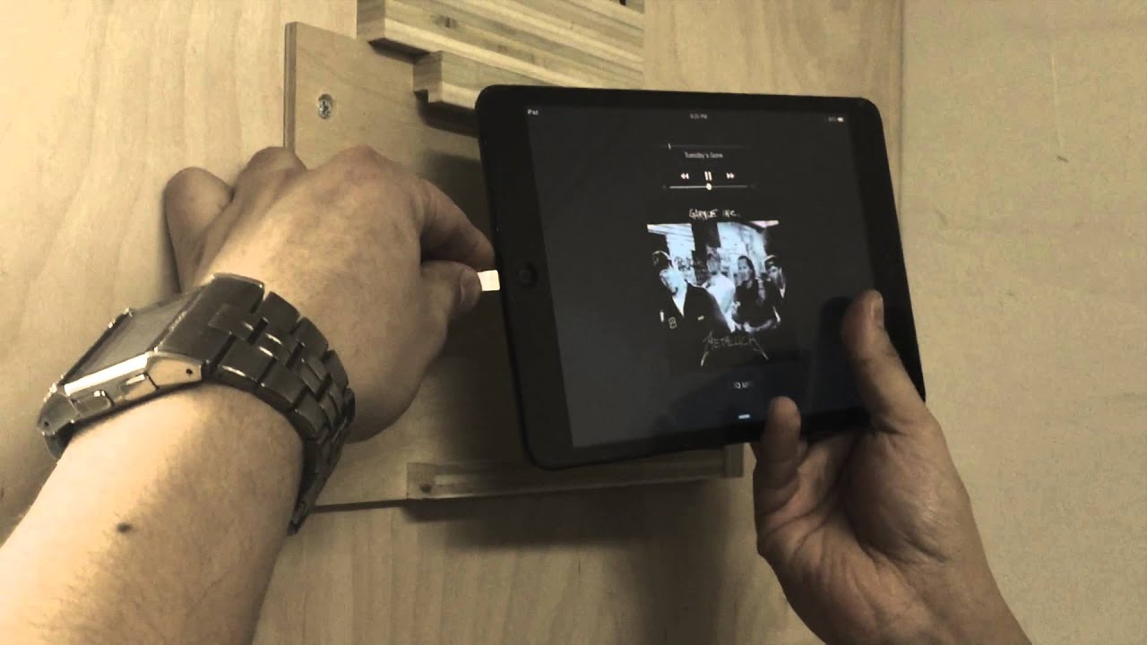 ipad mini wall mount prototype