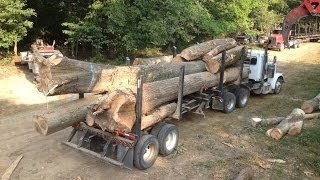 Log truck,  Loud pipes