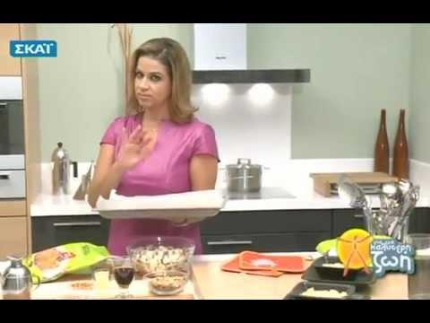 Η Μυρσίνη Λαμπράκη μαγειρεύει Σνίτσελ