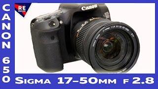 Canon 650 + Sigma 17 50mm f/2.8 Test(Купил себе объектив Sigma 17 50mm f2 8, выбирал чтобы было прозрачное стекло, что позволяет снимать видео в помещен..., 2016-04-30T15:00:03.000Z)