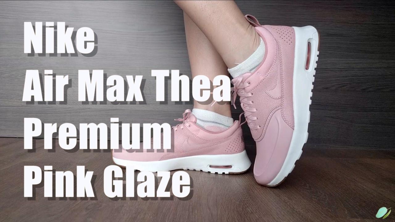 Nike Air Max Thea Premium W shoes grey pink