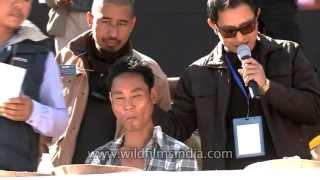 Nagaland hornbill festival Pork fat eating competition