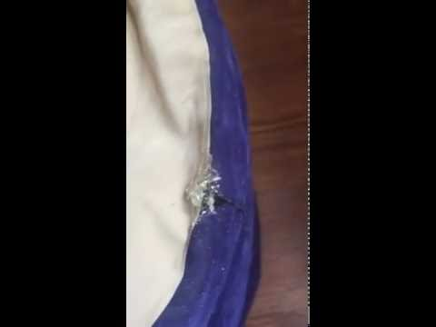 How To Repair An Intex Airbed Air Matress Seam Hole Youtube