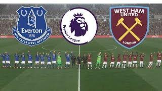 Everton vs West Ham - Premier League 18/19  Matchweek 5   Gameplays PC