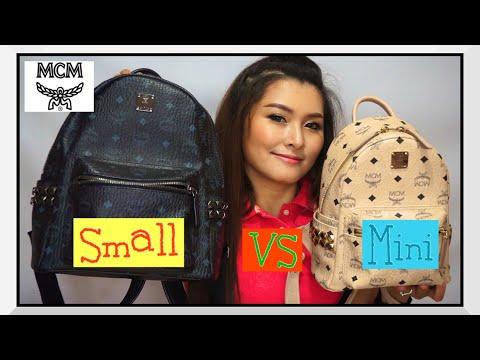 รีวิว MCM Backpack Stark Size Small VS Mini