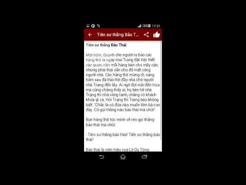 Ứng dụng Truyện Trạng Quỳnh trên Android