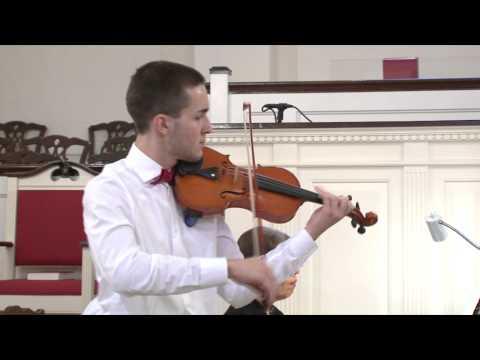 Justin Welch Performs Concerto #1 in D Major, Op. 19 by Sergie Prokofiev
