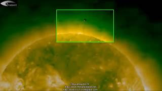 UFO near the Sun + The disappearance of the Sun - November 20, 2012.