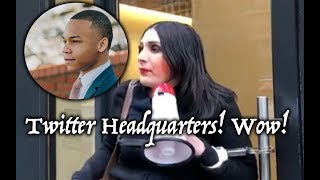Laura Loomer Chains Herself To Twitter Headquarter In NYC! CJ Pearson Deactivated? Why?