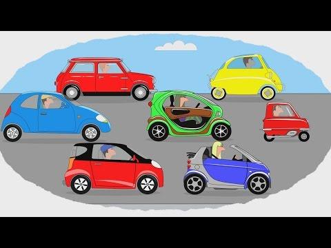 Мультик - Раскраска. Учим Цвета - Самые маленькие автомобили - Часть 2