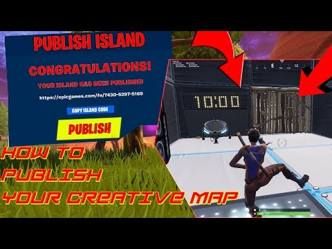 HOW TO PUBLISH YOUR CREATIVE MAP IN FORTNITE ( EDIT COURSE& EDIT WARMUP& MINIGAMES ETC)
