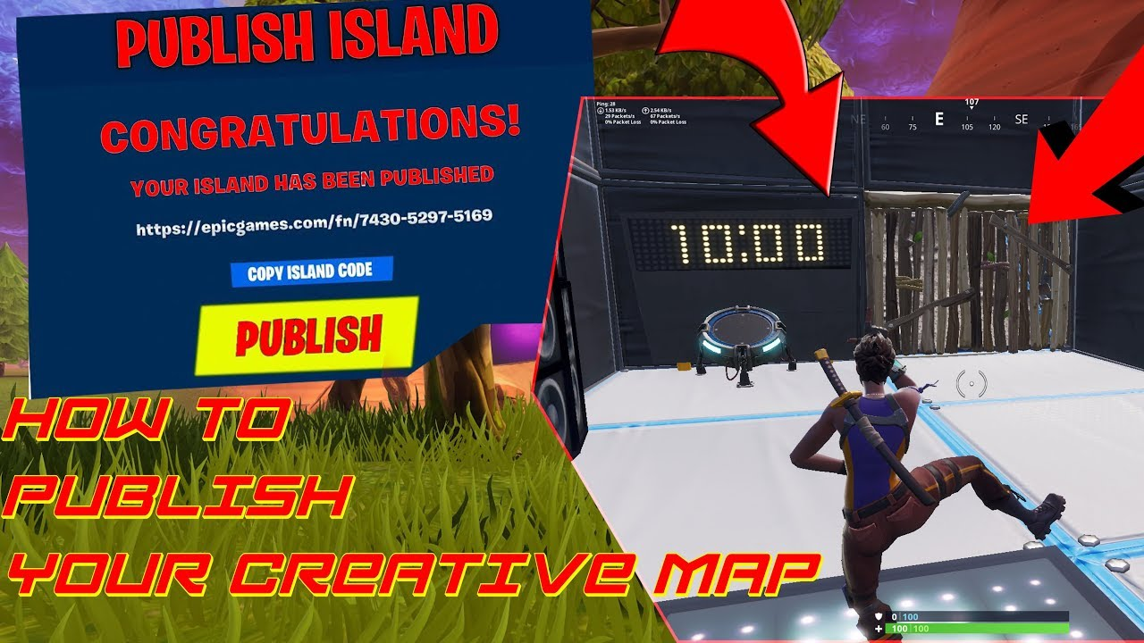 HOW TO PUBLISH YOUR CREATIVE MAP IN FORTNITE ( EDIT COURSE ...