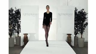 Tightsplease Pamela Mann Sheer Dotty Tights on Catwalk