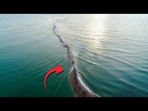 Terekam Jelas!! Dikira Cuma Dongeng, Warga Kaget Saat Lihat Fenomena Laut Terbelah ini!! Perhatikan!