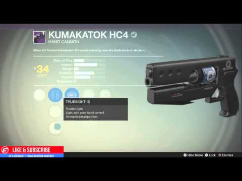 King kumakatok hc4 weapon and perks overview legendary hand cannon