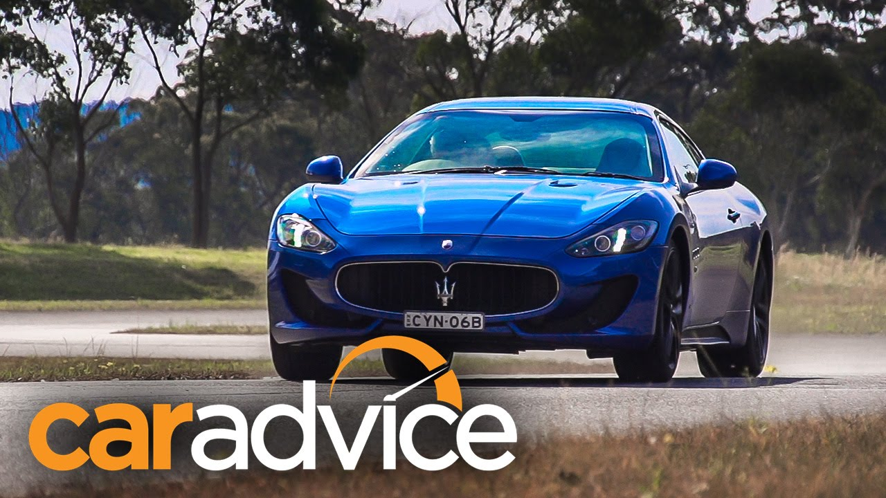 2015 Maserati GranTurismo MC Sport Review : track test - YouTube
