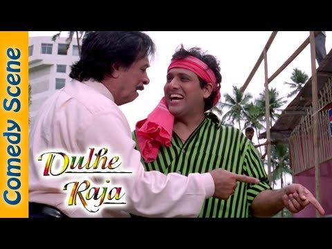 Kader Khan Comedy Scene Dulhe Raja Movie Govinda