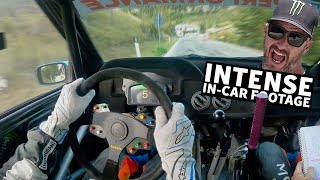 Ken Block Raw Onboard Footage! Blistering Fast Tarmac Stage. Rally Legend - S7