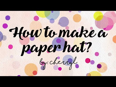 How to make a paper hat? | Origami | Songkok| Paper Folding | DIY paper hat