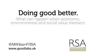 Doing Good Better - RSA lecture