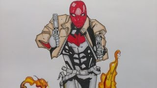 Drawing Red Hood new 52, DC Comics