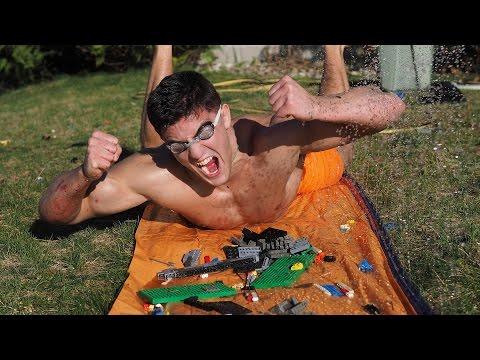 EXTREME LEGO SLIP 'N SLIDE *BLOOD ALERT* | Bodybuilder VS Most Dangerous Kid Toys Of All Time