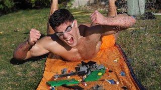 EXTREME LEGO SLIP 'N SLIDE CHALLENGE | Bodybuilder VS Most Dangerous Kid Toys Of All Time
