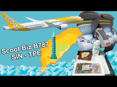 Scoot Business Class B787 Dreamliner Singapore to Taipei