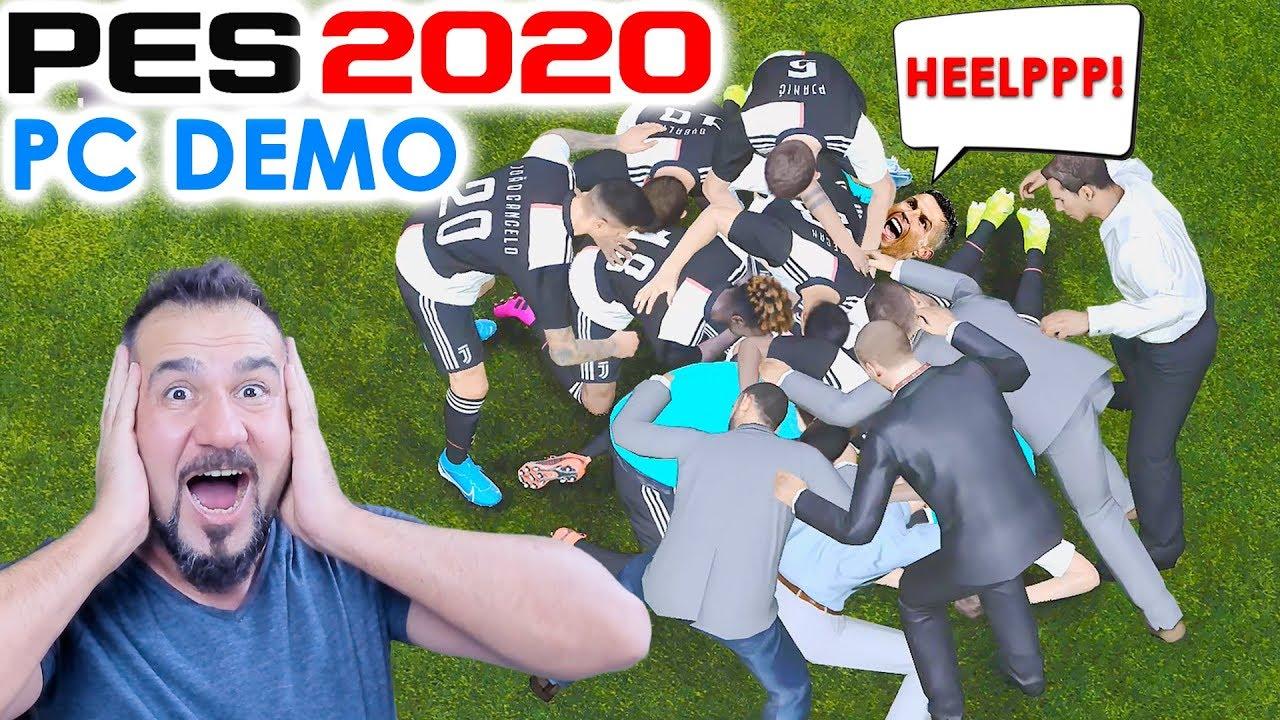 eFootball PES 2020 PC DEMO İLK DİREK! Videosu