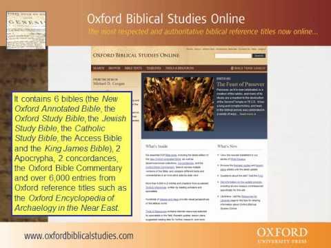 Oxford Biblical Studies Online: A short guide