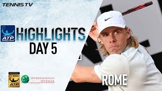Highlights: Shapovalov Edges Berdych For Milestone Win In Rome 2018