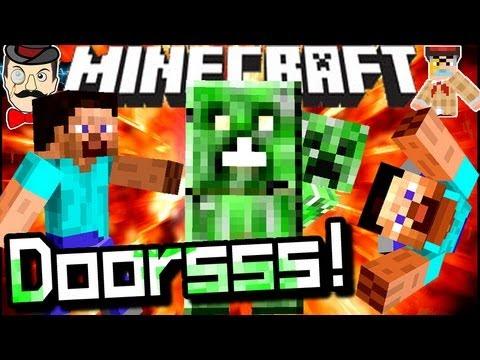 Minecraft CREEPER DOORS! Ssssurprise!