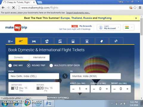 Makemytrip instant discount on domestic flights