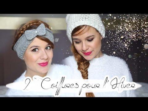 Tuto 2 Coiffures D Hiver Avec Bonnet Youtube