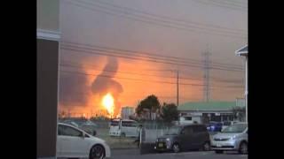 コスモ石油燃料タンク爆発の瞬間(3月11日地震)