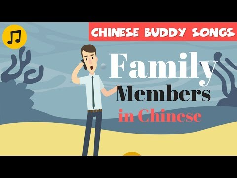 Learn Chinese | Family Members in Chinese Learning Song
