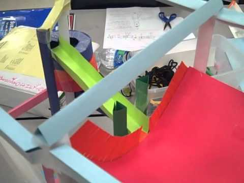 Paper Roller Coaster With Elevator Youtube