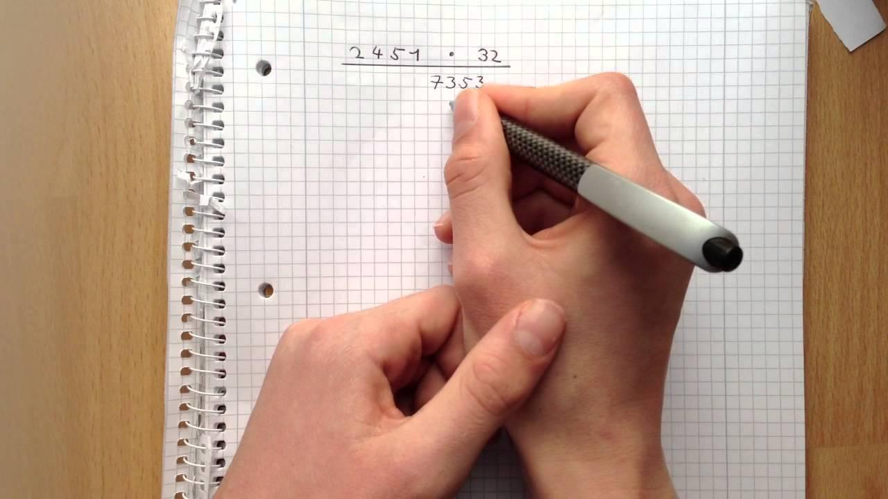 schriftlich Multiplizieren - Multiplikation ohne Taschenrechner ...