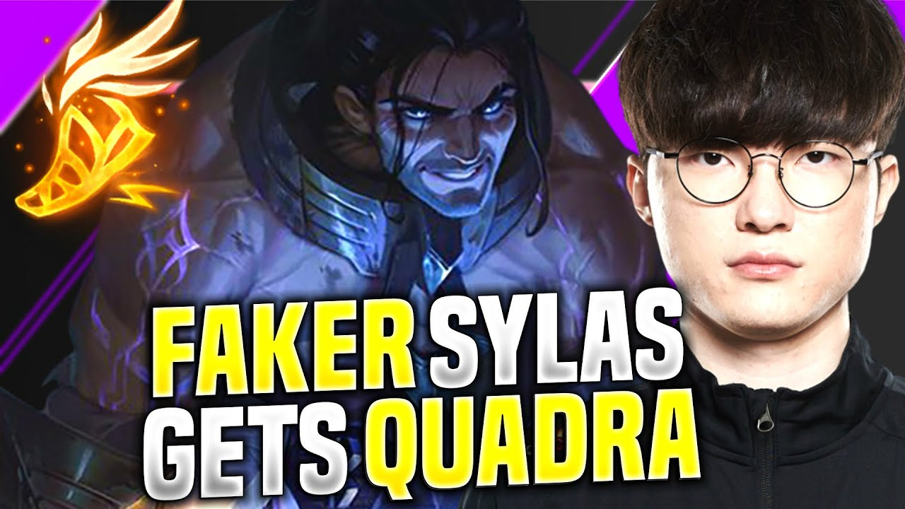 FAKER QUADRA WITH SYLAS! - T1 Faker Plays Sylas vs Syndra Mid! | KR SoloQ Patch 10.15