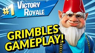GRIMBLES Skin Gameplay In Fortnite Battle Royale // Stream Highlights