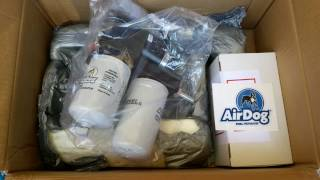 Unboxing a Duramax Air Dog 100 Fuel Pump