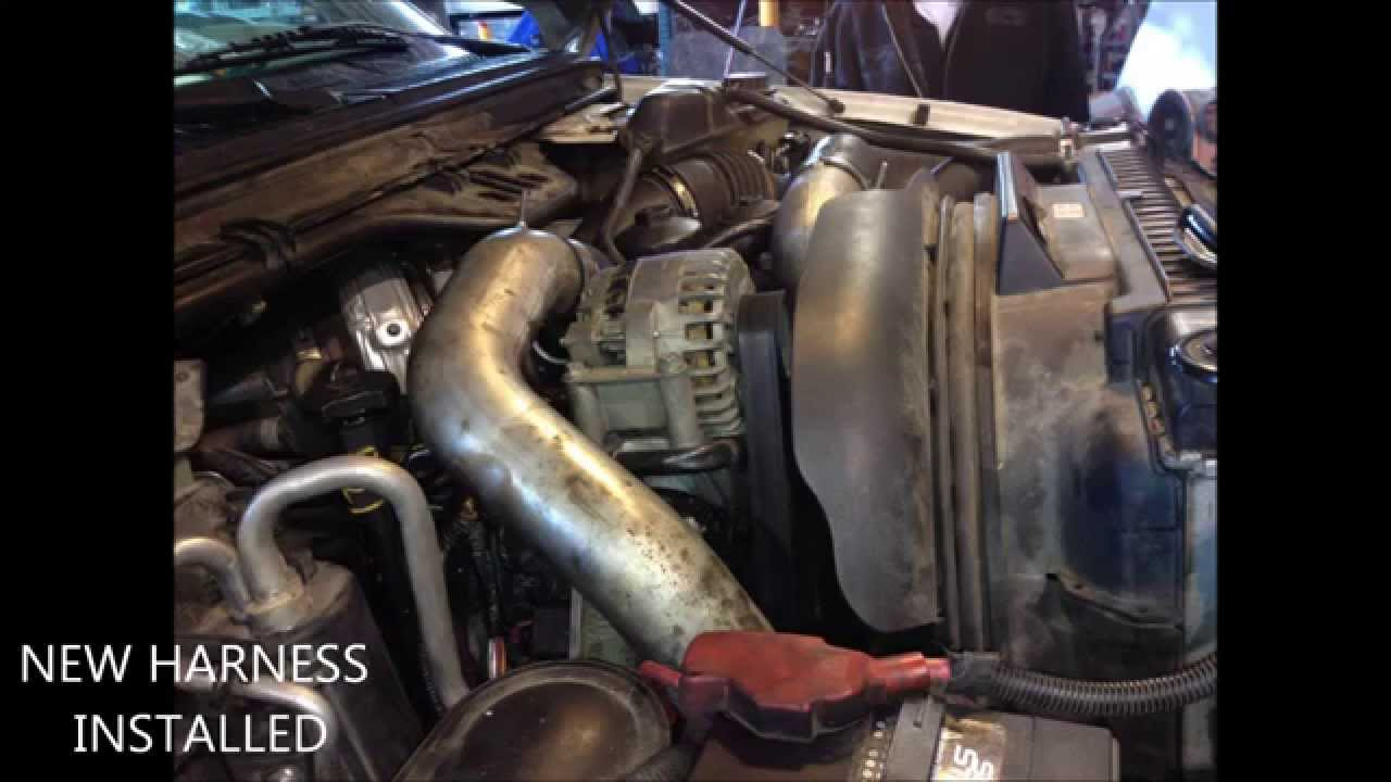 maxresdefault ford f 450 6 0 power stroke diesel wire harness repair youtube how long does it take to replace a wiring harness at soozxer.org