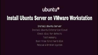 How to install Ubuntu Server 16.04 on VMware Workstation 12 Video
