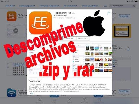 FileExplorer Archivos .zip Y .rar IOS Para IPad -iPhone -iPod GRATIS