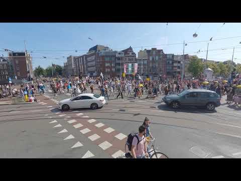 Hoeveel mensen tel jij? | Time Lapse Demonstratie Amsterdam 5 september 2021| Deel 1
