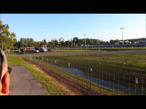 NOSA Sprints 6-27-13 Norman County Raceway Heat Race Rollover